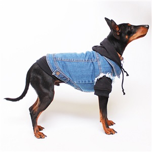 Denim Fabric Dog Clothing